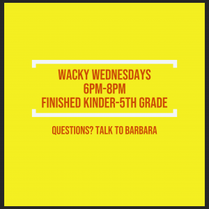 Wacky Wednesdays for Kids
